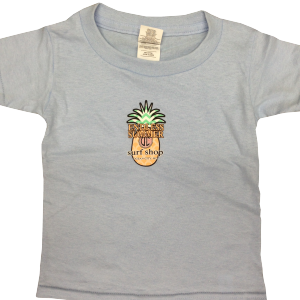 Gray toddler surf wear with endless summer pineapple logo