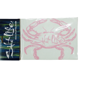 Surf Sticker with pink crab and Salt Life logo