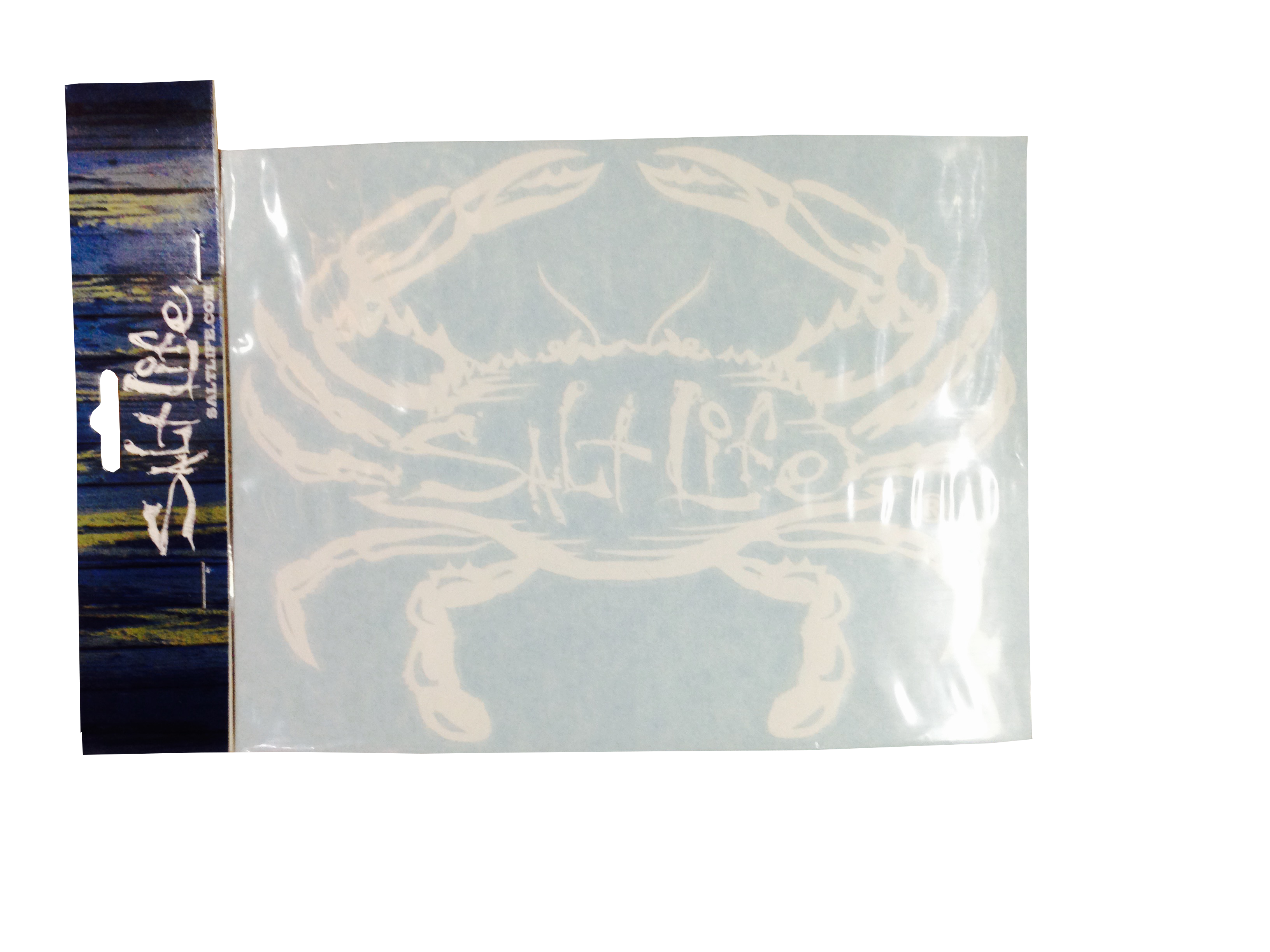Salt life surf sticker with crab decal