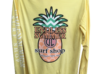 Endless Summer Pineapple logo yellow long sleeve