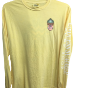 Front side of endless summer yellow long sleeve