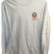 Light blue endless summer long sleeve with pineapple logo