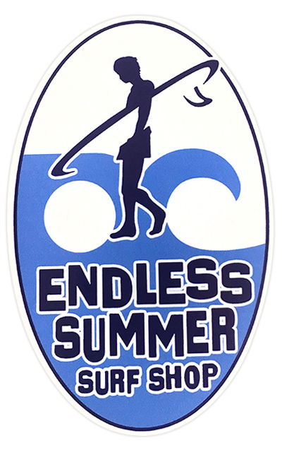 Surf sticker with oc md logo in the background